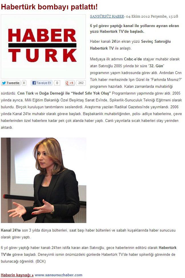 Sevinç Satıroğlu Haber Sunucusu Spikeri TV Anchor. Habertürk